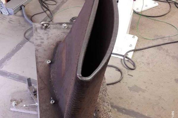 Une pale creuse d'hélice de bateau imprimée pour la première fois à Nantes
