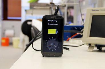 Batterie rechargée par nanoplots