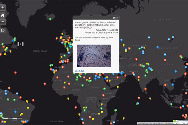 Une carte interactive des photos prises depuis la Station spatiale internationale
