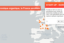 Carte interactive : l'électronique organique Made in France