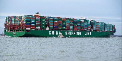 le plus gros porte conteneurs du monde arrive en europe