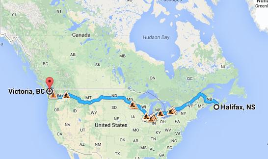 La traversée du Canada par Htichbot, le robot autostoppeur