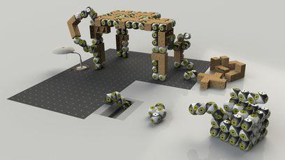 des meubles robotis s qui s 39 assemblent comme des lego. Black Bedroom Furniture Sets. Home Design Ideas