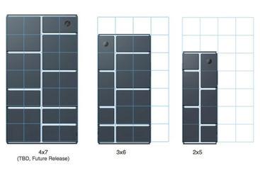 Différentes configurations possibles avec les modules du projet Ara.