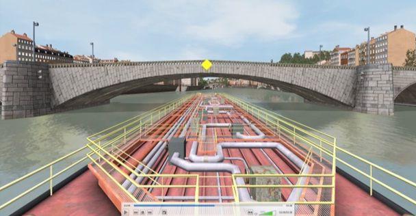 Simulateur De Navigation Fluvial 3d Pour Le Rh 244 Ne Et La Sa 244 Ne