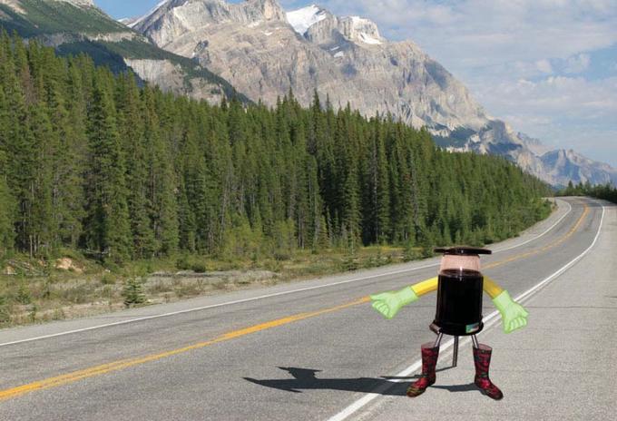 Hitchbot, le robot qui va traverser le Canada d'est en ouest avec l'aide des humains.
