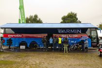 Tour de France : le bus photovoltaique de l'équipe Garmin-Sharp
