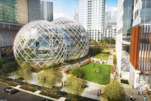 Amazon a son campus, Google affiche la tendance, la science est un art graphique...TECHNOBUZZ