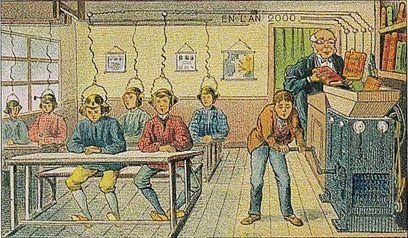 Une école de l'an 2000, imaginée en 1910...une préfiguration de l'université numérique?