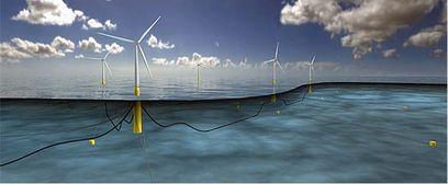 Des éoliennes flottantes au large de l'écosse en 2017