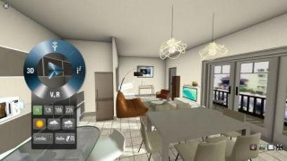 visitez votre futur appartement en 3d sur le web. Black Bedroom Furniture Sets. Home Design Ideas