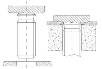 syst me d assemblage par crous sertis. Black Bedroom Furniture Sets. Home Design Ideas